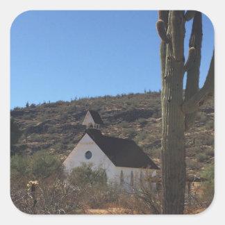 Adesivo Quadrado Igreja ocidental velha