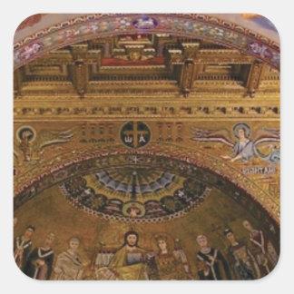Adesivo Quadrado igreja ornamentado para dentro