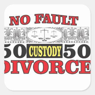 Adesivo Quadrado igualdade 50 do divórcio 50 da no-falha