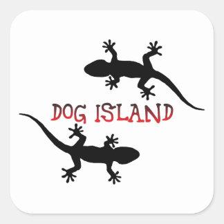 Adesivo Quadrado Ilha Florida. do cão