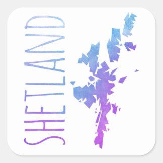 Adesivo Quadrado Ilhas de Shetland