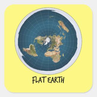 Adesivo Quadrado Imagem da terra lisa