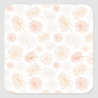 Adesivo Quadrado Impressão botânico do jardim floral do Succulent