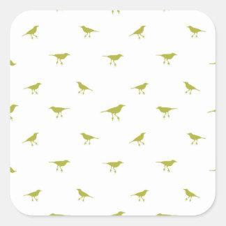 Adesivo Quadrado Impressão da silhueta dos pássaros