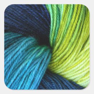 Adesivo Quadrado Impressão do fio, fazendo malha, crochet