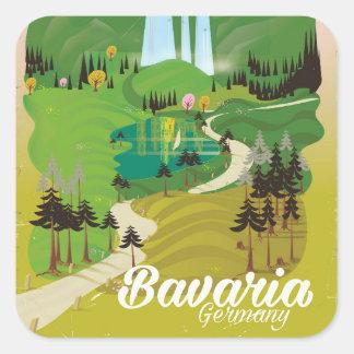 Adesivo Quadrado Impressão do viagem da paisagem de Baviera