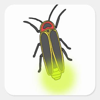Adesivo Quadrado inseto de relâmpago leve