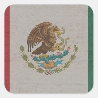 Adesivo Quadrado International da bandeira de México