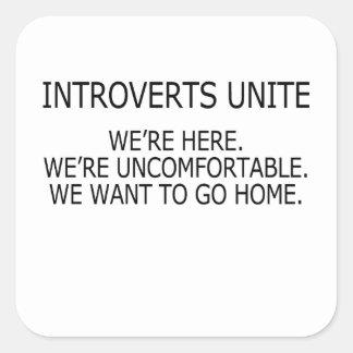 Adesivo Quadrado introverts