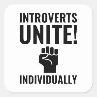 Adesivo Quadrado Introverts unem-se