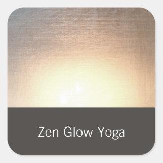 Adesivo Quadrado Ioga moderna do fulgor do zen e artes curas