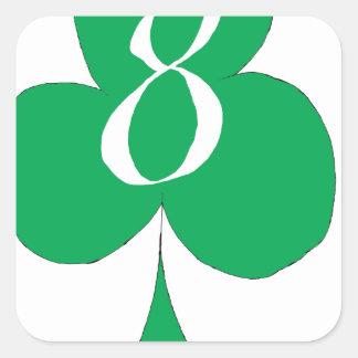 Adesivo Quadrado Irlandês afortunado 8 dos clubes, fernandes tony