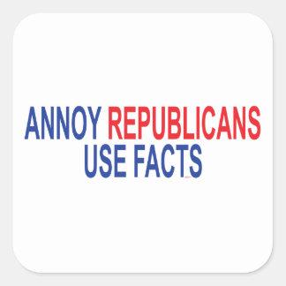 Adesivo Quadrado Irrite republicanos - use fatos