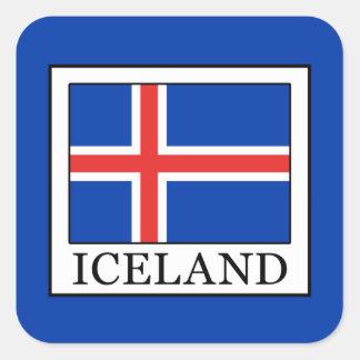 Adesivo Quadrado Islândia