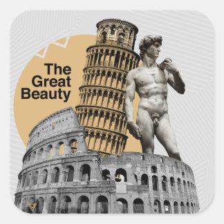 Adesivo Quadrado Italia, a grande beleza