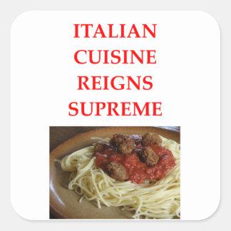 Adesivo Quadrado italiano