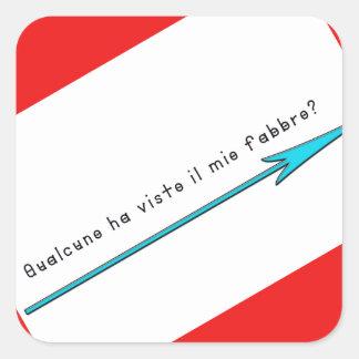 Adesivo Quadrado Italiano-Ferreiro
