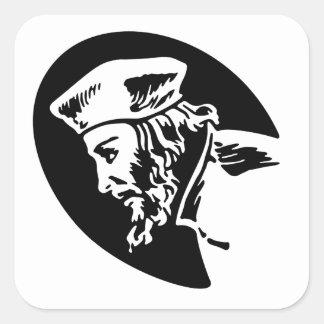 Adesivo Quadrado Jan Hus