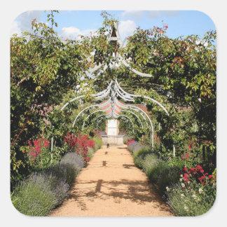 Adesivo Quadrado Jardim inglês velho
