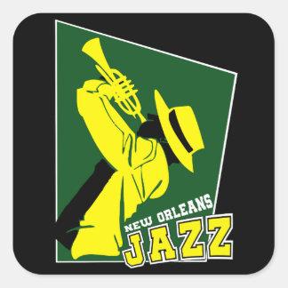 Adesivo Quadrado jazz new orleans
