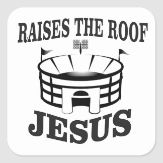 Adesivo Quadrado Jesus aumenta o telhado yeah