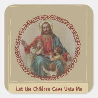 Adesivo Quadrado Jesus com cristão Homeschool das crianças