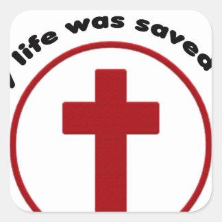 Adesivo Quadrado jesus salvar, camisa cristã do presente t da