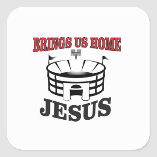 Adesivo Quadrado Jesus traz-nos home