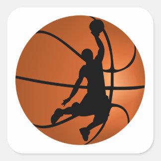 Adesivo Quadrado Jogador de basquetebol do afundanço
