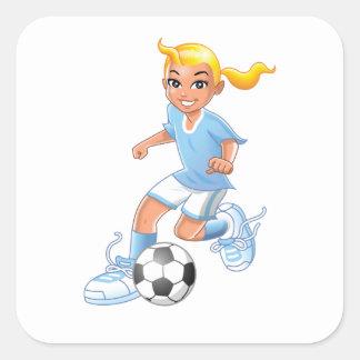 Adesivo Quadrado Jogador de futebol das meninas