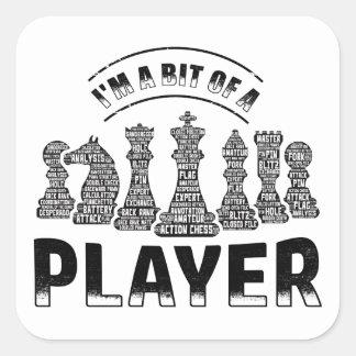 Adesivo Quadrado Jogador de xadrez