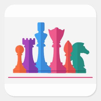 Adesivo Quadrado Jogo de xadrez