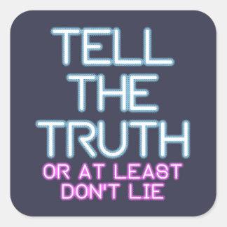 Adesivo Quadrado Jordão Peterson: Diga a verdade…