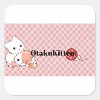 Adesivo Quadrado Kawaii OtakuKitten Mixx