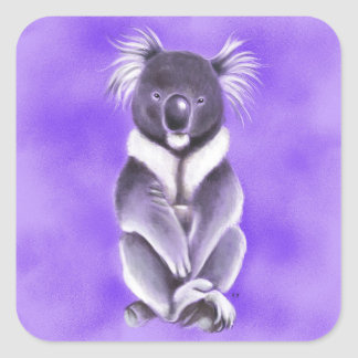 Adesivo Quadrado Koala de Buddha