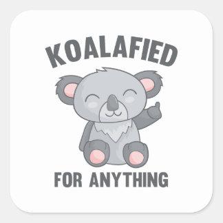 Adesivo Quadrado Koalafied para qualquer coisa