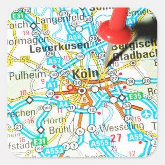 Adesivo Quadrado Köln, água de Colônia, Alemanha