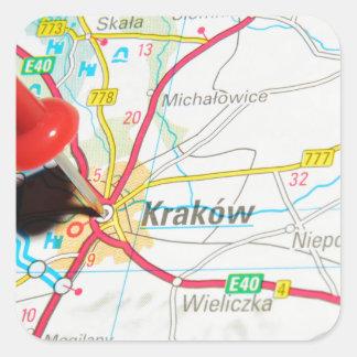 Adesivo Quadrado Kraków, Krakow, Cracow no Polônia