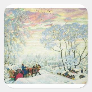 Adesivo Quadrado _Kustodiev do inverno.
