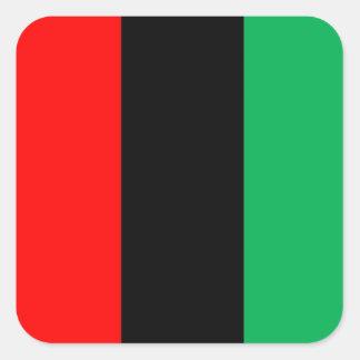 Adesivo Quadrado Kwanzaa colore o teste padrão verde preto vermelho