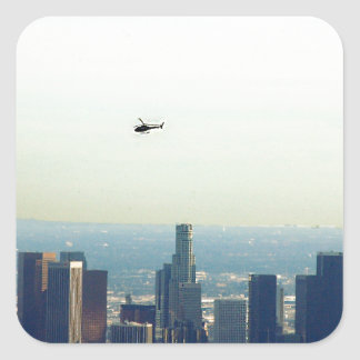Adesivo Quadrado LA e helicóptero
