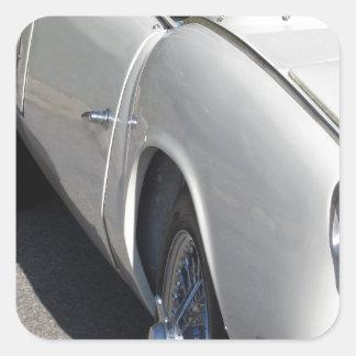 Adesivo Quadrado Lado esquerdo de um carro clássico britânico velho