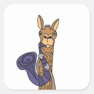 Adesivo Quadrado Lama legal engraçado que joga a arte do original