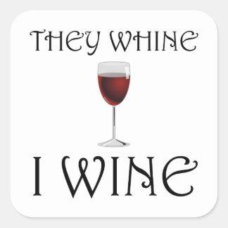 Adesivo Quadrado Lamentam-se vinho de I