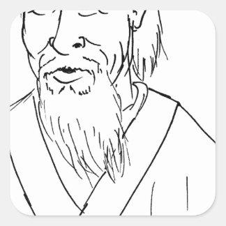 Adesivo Quadrado Lao Tzu