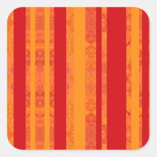 Adesivo Quadrado laranja