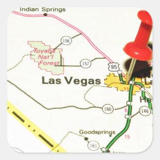 Adesivo Quadrado Las Vegas, Nevada