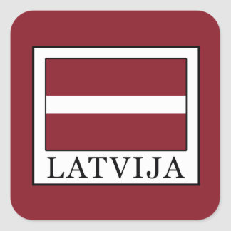 Adesivo Quadrado Latvija