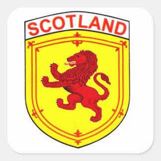 Adesivo Quadrado Leão desenfreado de Scotland