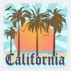Adesivo Quadrado Lembrança do vintage de Califórnia